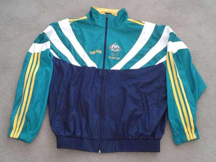 Adidas 1996 barcelona olympics Australian team ATHLETE ISSUE ONLY jacket. Auctiva's FREE Counter. | eBay!