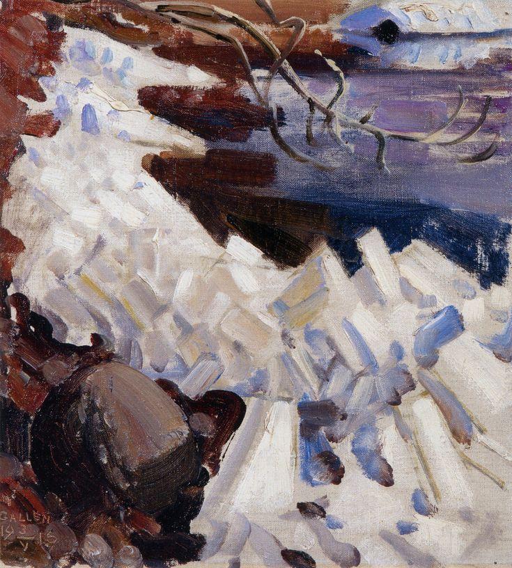 Ice Breaking on the Shores of Kalela (Akseli Gallen-Kallela - 1916)