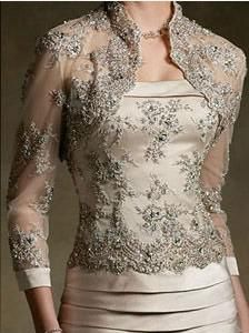 Sexy lace long sleeve vintage mother of the bride dress with jacket