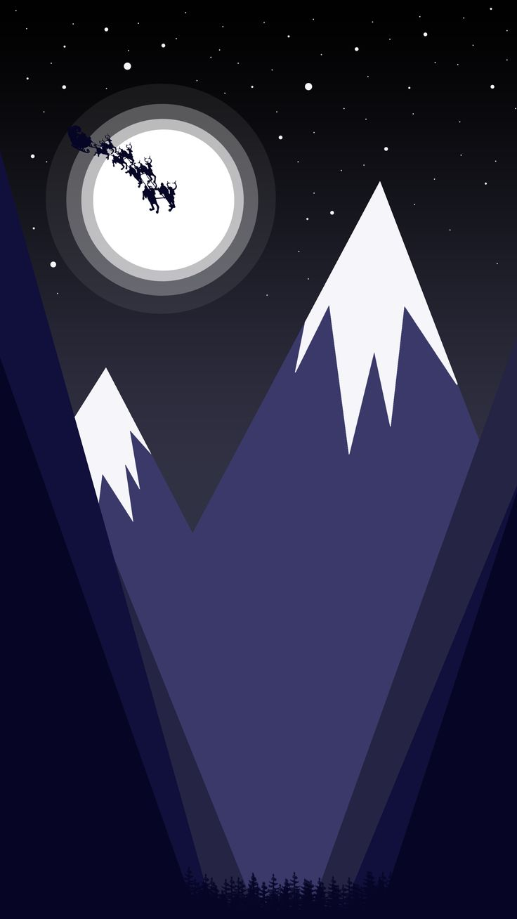 #santaclaus #valley #night #snow #landscape