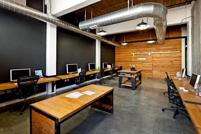 OfficeOffices Design, Offices Spaces, Design Interiors, Interiors Design, Workspaces, Design Studios, Recycle Wood, Offices Interiors, Design Offices