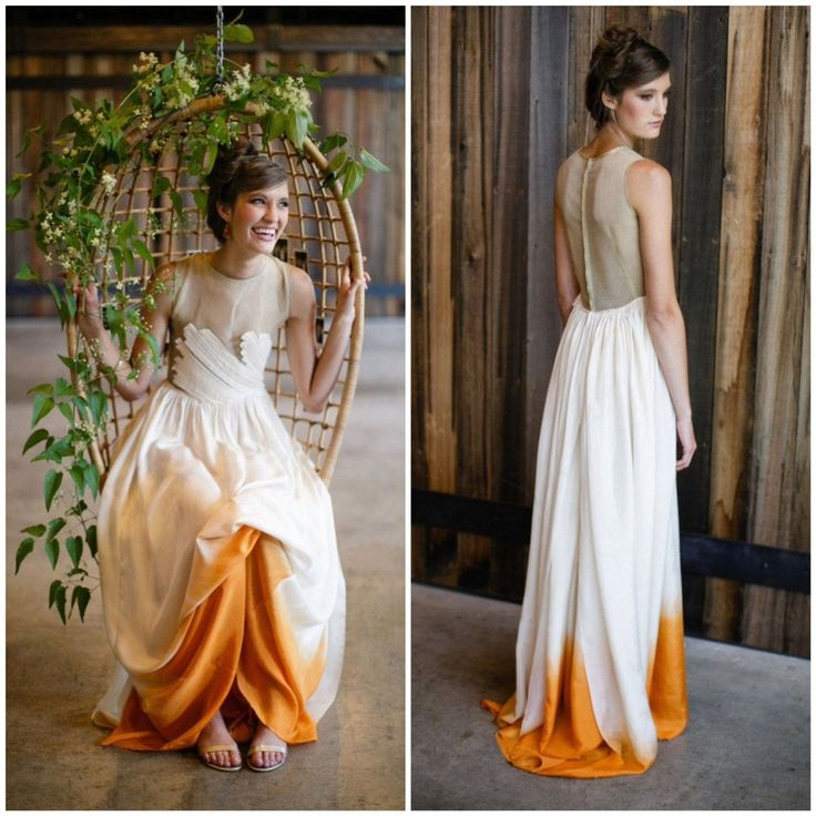 abiti da sposa 2017 dip-dyed: arancione