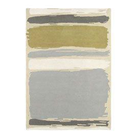 Sanderson Abstract Linden/Silver Rug