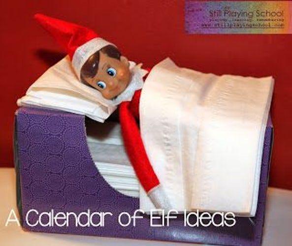 Elf On The Shelf Ideas Tissue Box