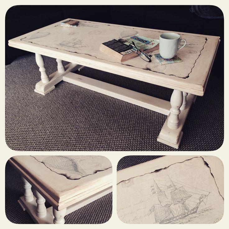 Shipwrecked coffee table.  Facebook.com/homecandynz