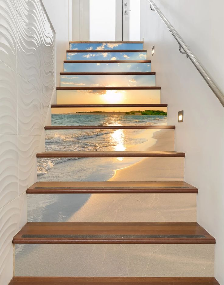 how to measure for wallpaper on stairs