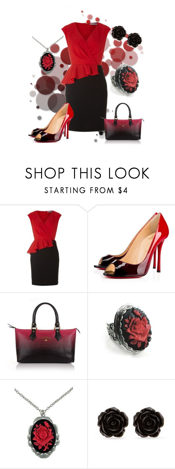 """""""Untitled #199"""" by saskatoonmommy ❤ liked on Polyvore featuring Andrew Marc, Christian Louboutin, Vivienne Westwood, Cameo and Erica Lyons"""