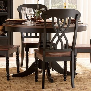 TRIBECCA HOME Mackenzie Country Black Dining Chair (Set Of 2) By Tribecca  Home