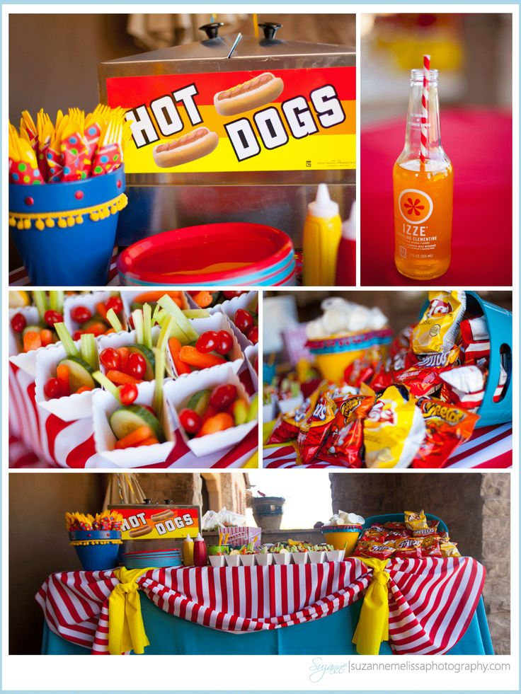 carnival themed birthday party | Carnival Themed Birthday Party » Suzanne Melissa Photography ...like the veggie idea for the health nuts