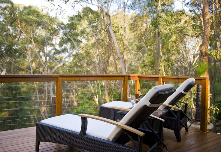 Tandara Luxury Eco tent deck  http://www.ecohotel.com.au