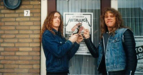 James Hetfield & Cliff Burton- Metallica ....