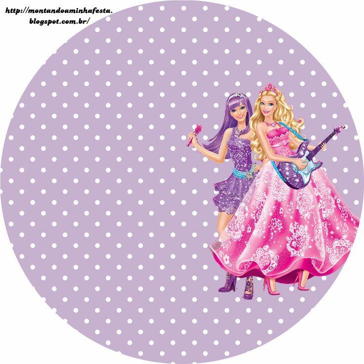 Barbie Moda y Magia y Barbie Rock Star: Etiquetas Gratis para Candy Bar. | Ideas y material gratis para fiestas y celebraciones Oh My Fiesta!