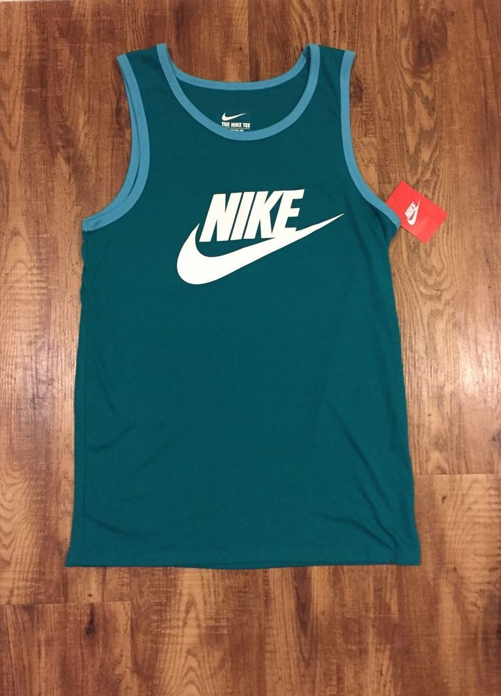 Nike Men's Tank Top in Turquoise Size S | eBay