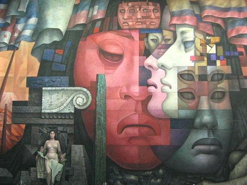 "Mural ""Presencia de América Latina"" Universidad de Concepcion - Chile"