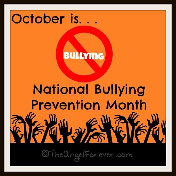 October is National Bullying Prevention Month. Let's end bullying!