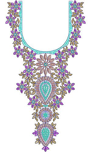 Latest Trendy Neck Embroidery Design