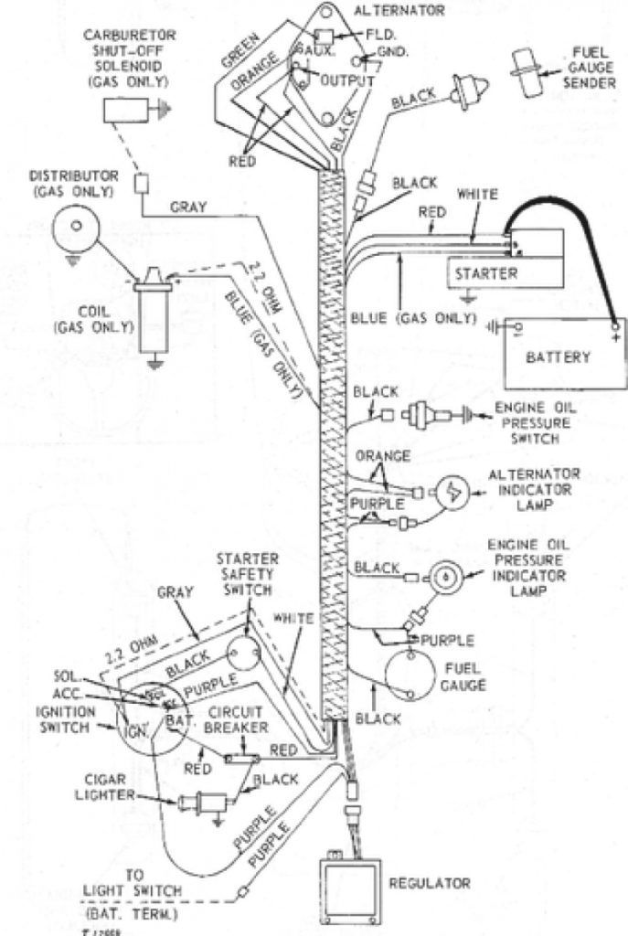pin on john deere 1020 charging diagram  pinterest