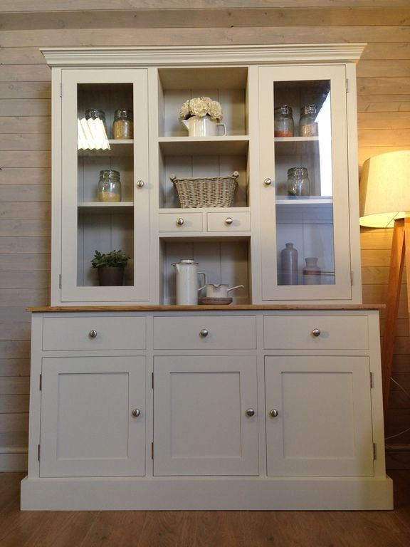 Painted Welsh Dressers, Painted Pine Furniture, Shaker Style Welsh Dressers, White Welsh Dressers, Welsh Kitchen Units, Pine Welsh Dressers for Sale