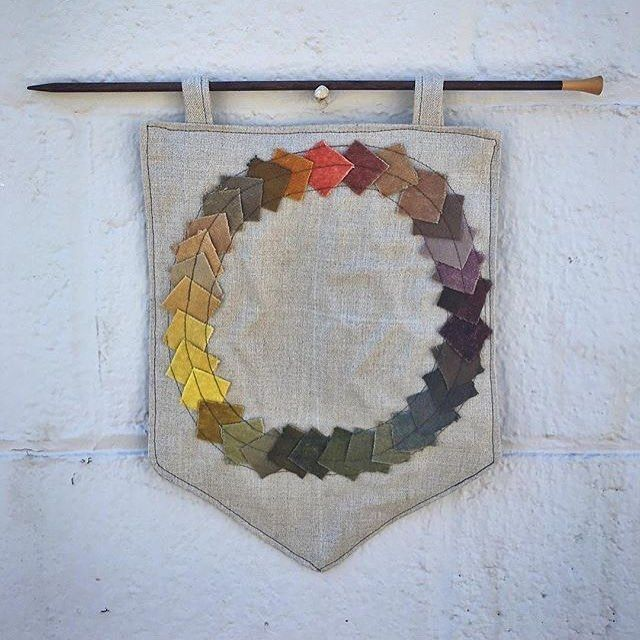 Count down to Knit City is about to start! I'll be posting beautiful things that you will be able to acquire there - starting with these amazing natural dye sampler banners by @ffrench  #naturaldyes #knitcity2017 #Vancouver