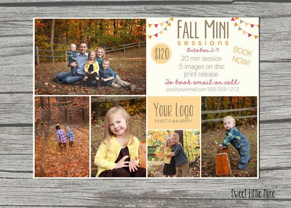 Best Fall Autumn Mini Session Images On Pinterest Fall - Mini session templates