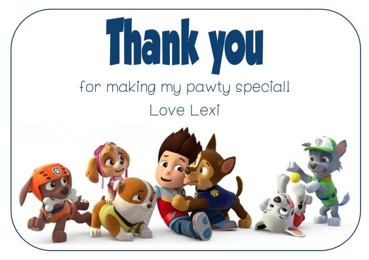 #PawPatrol thank you