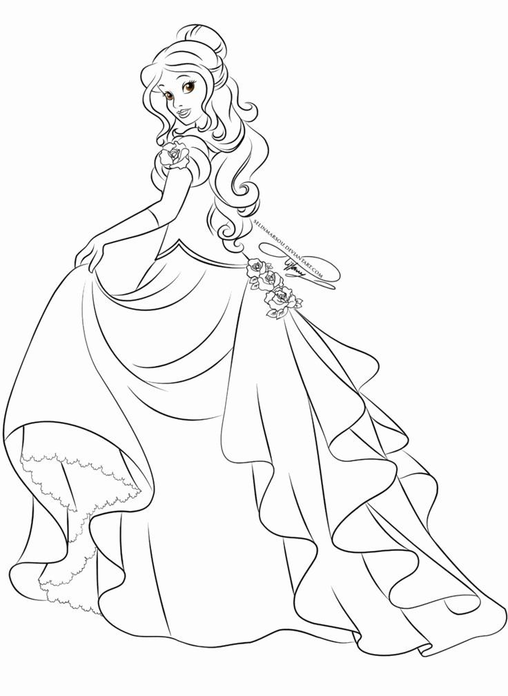 Disney Princess Belle Coloring Pages Beautiful Lineart Glamorous Fashion Belle By S In 2020 Belle Coloring Pages Disney Princess Coloring Pages Princess Coloring Pages