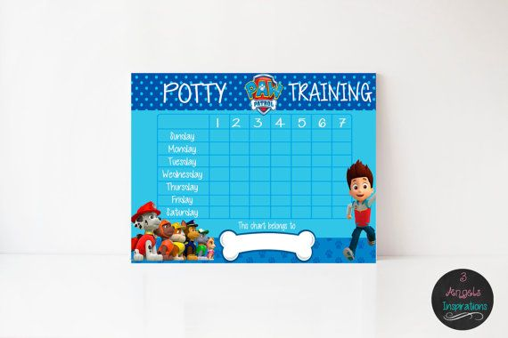 Paw Patrol Potty Training Chart Amp Chore By