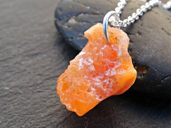 Rough Mexican Fire Opal Necklace