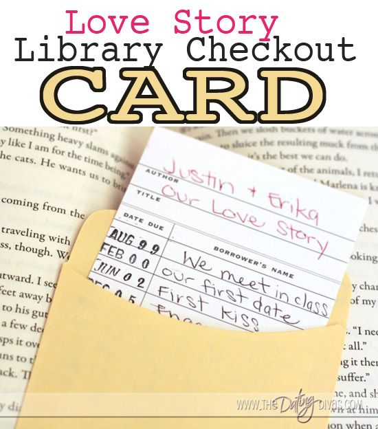 This library card is so simple but so sentimental.  I love how you can feature important dates in your relationship!