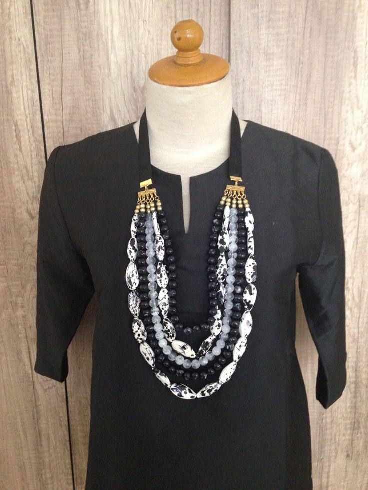 Black n white Tamiku necklace