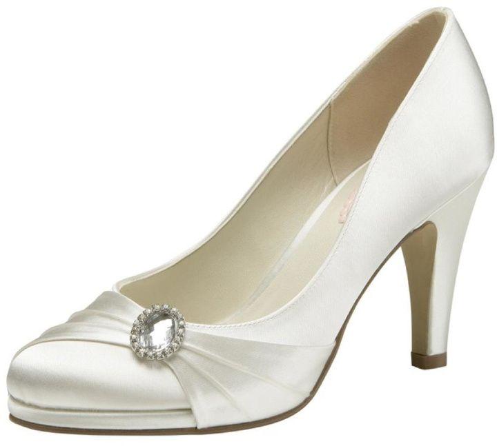 pink paradox London Strawberry Ivory Satin Heel #http://shopstyle.it/l/cHvA #bridal#wedding#chic