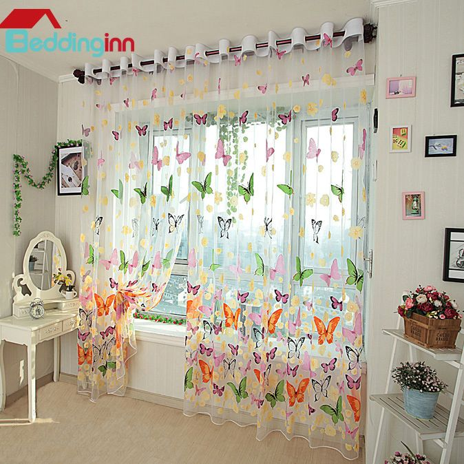 #butterfly #curtain #homedecor #interior #beddinginn Coloruful butterfly sheer curtain  Live a better life, start with Beddinginn http://www.beddinginn.com/product/New-Arrival-Colorful-Butterfly-Print-Grommet-Top-Sheer-Curtain-11182805.html?utm_source=plus.google.com&utm_medium=CI&utm_content=150501-