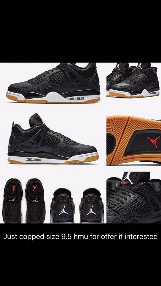 8ebf668a056e Air Jordan 4 Retro SE Black Laser Size 9.5 Unworn  fashion  clothing  shoes   accessories  mensshoes  athleticshoes (ebay link)