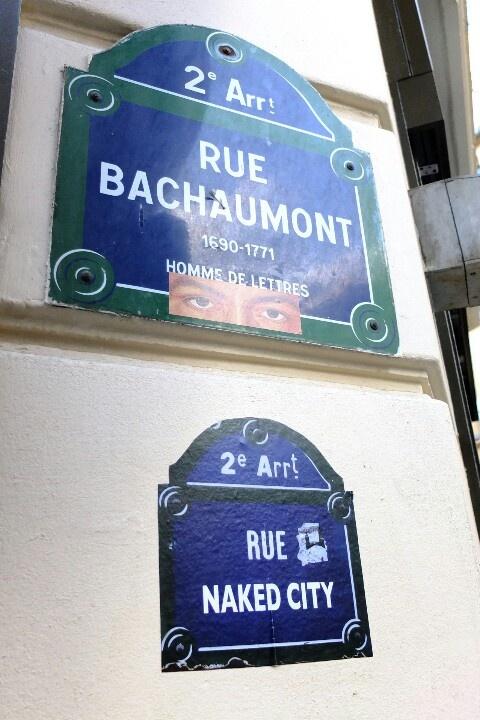 Paris.- plaque de rue - rue bachaumont