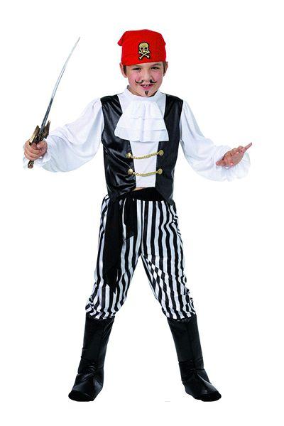 Piraten kostuum voor kinderen. Dit kinder piraten kostuum bestaat uit de volgende onderdelen: broek, shirt, boot covers, hoofddoek en riem. Ga verkleed als piraat. Carnavalskleding 2015 #carnaval