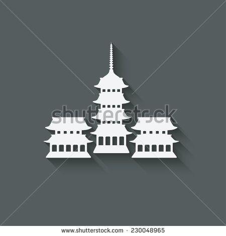 Buddhist temple design element - vector illustration. eps 10