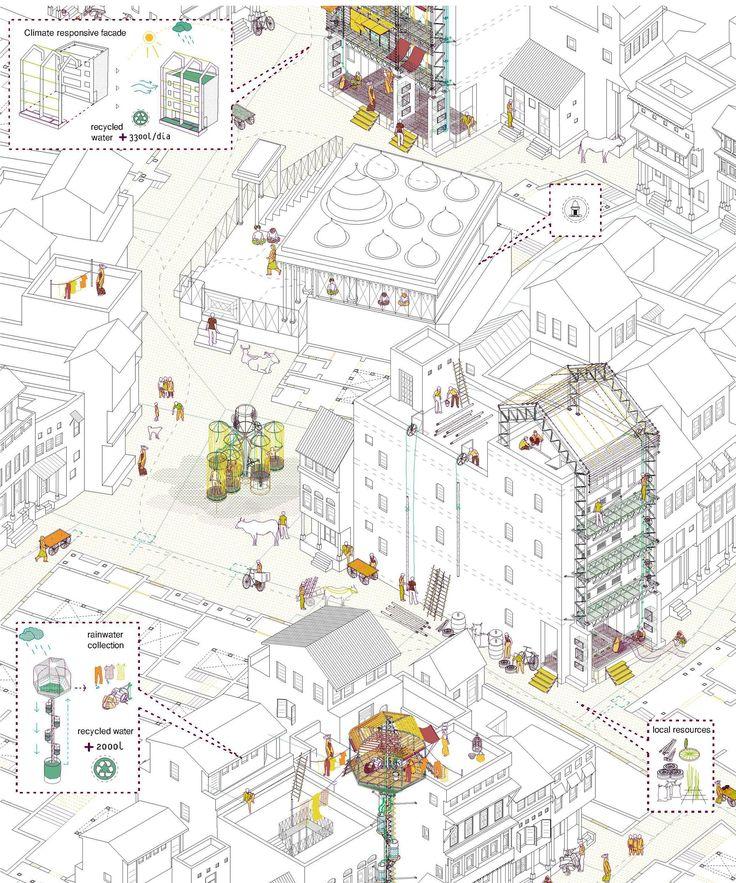 Urban Strategies to Regenerate Indian Public Space. Almudena Cano Pineiro. 2012 Global Architecture Graduate Awards.