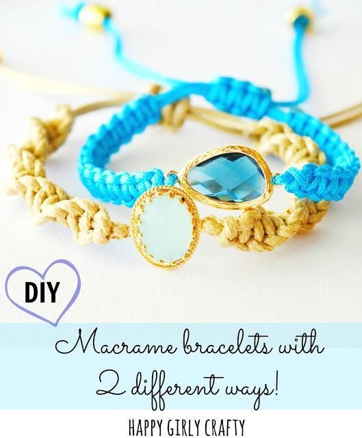 Macrame glass connector bracelet DIY