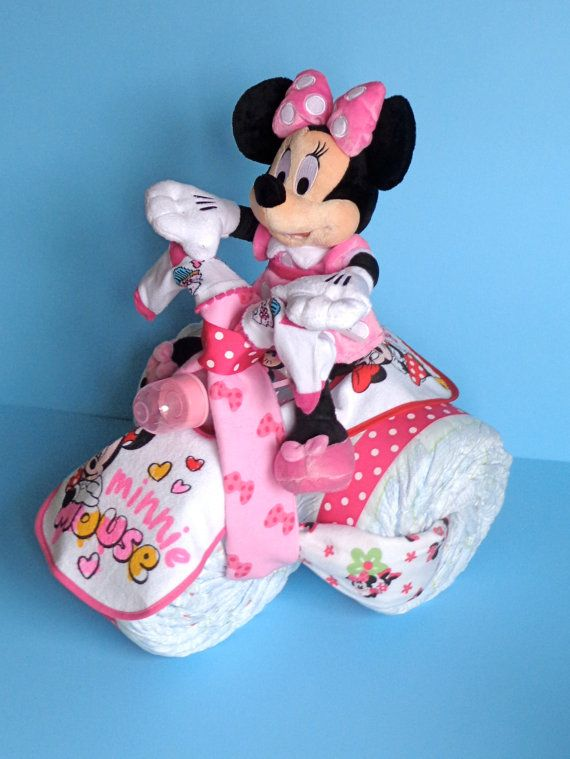 Minnie Mouse Tricycle  Diaper Tricycle  by PamperedBabyCreation, $75.00