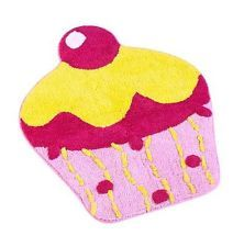 Lovely Kids/Girls Bedroom Cupcake Rug, 66 Cm X 78 Cm.