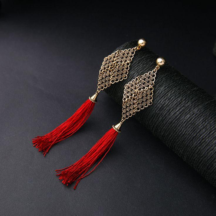 2016 New Fashion Long Drop Tassel Earrings For Costume Party Chinese Style Cheap Earring Wholesale Feminine Drop Earring