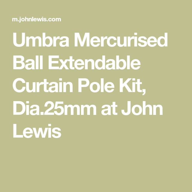 Umbra Mercurised Ball Extendable Curtain Pole Kit, Dia.25mm at John Lewis