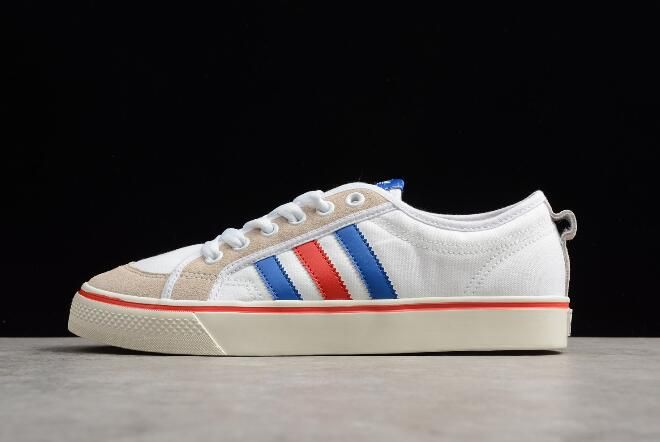 newest collection 157a0 6cdca 2018 New adidas Nizza White Blue Red Shoes AF6288