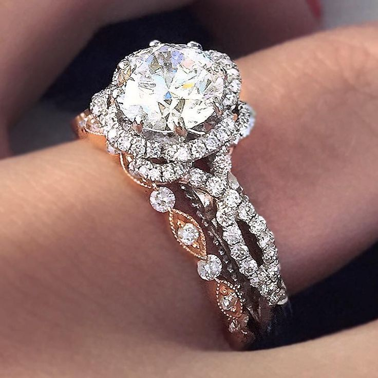 The Most Gorgeous Mixed Metal Engagement Ring And Wedding Stacks