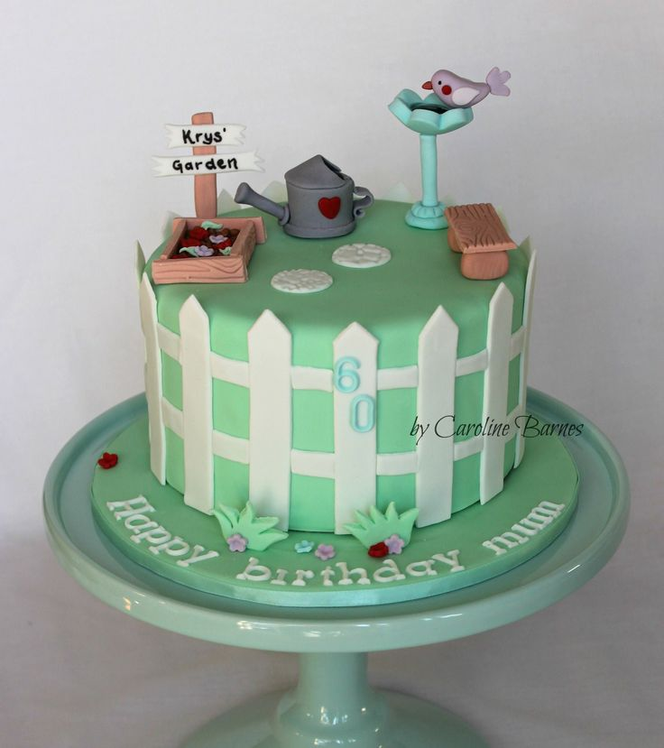 Garden Themed Birthday Cake