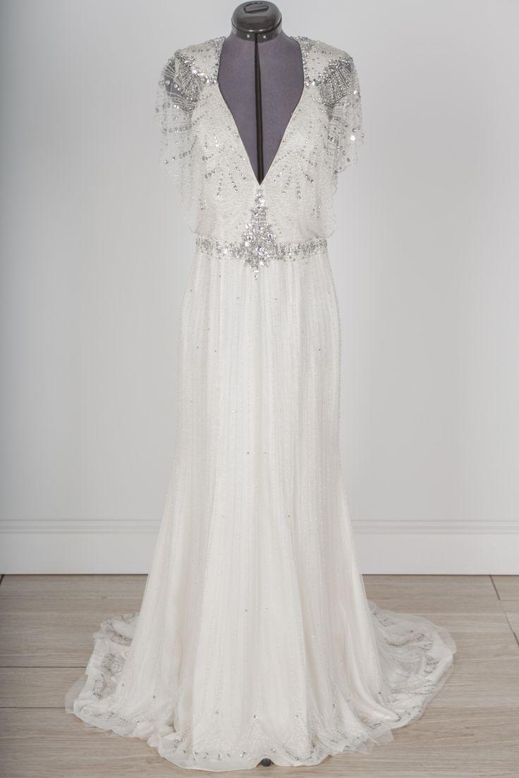 cap sleeve wedding dresses borrow wedding dress This Jenny Packham Nicole dress was made for a bohemian eco wedding dream