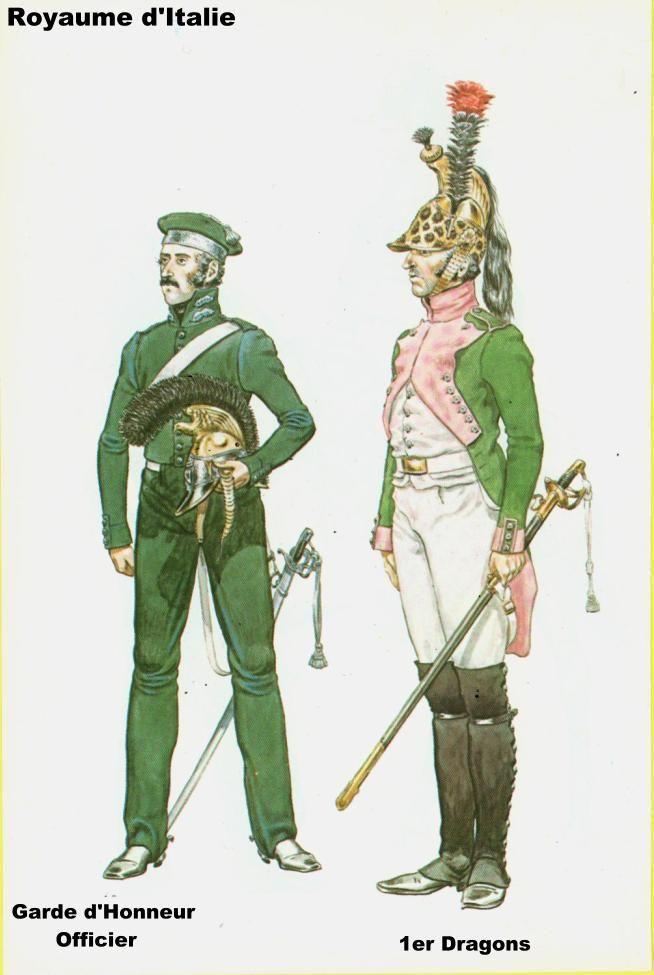 Royaume d'italie Garde d'Honneur & Dragon - 1812
