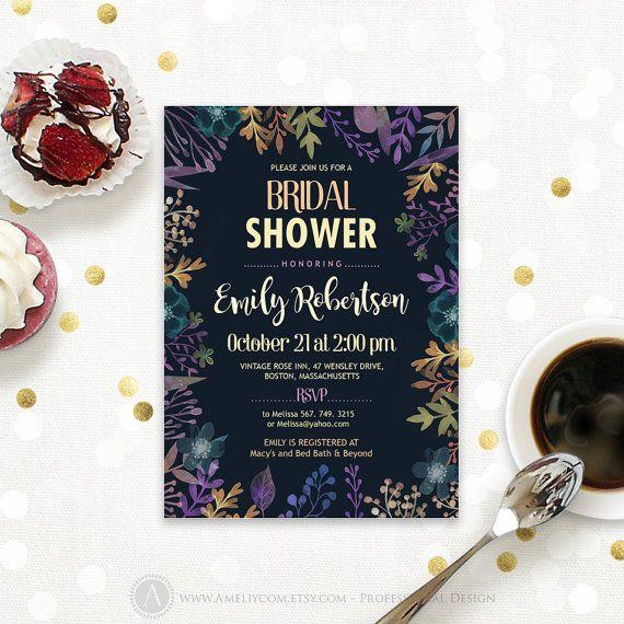 Autumn Bridal Shower Fall Bridal Shower Invitation by AmeliyCom https://www.etsy.com/listing/476824363/autumn-bridal-shower-fall-bridal-shower