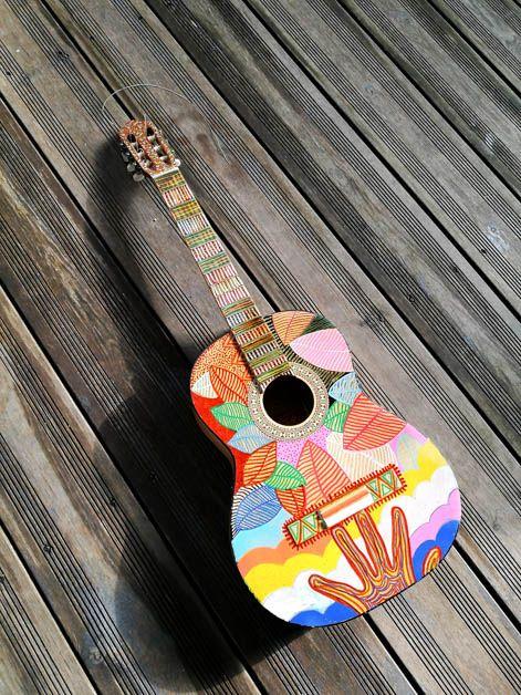 Chitarra customizzata da Henri Olama #guitar #custom
