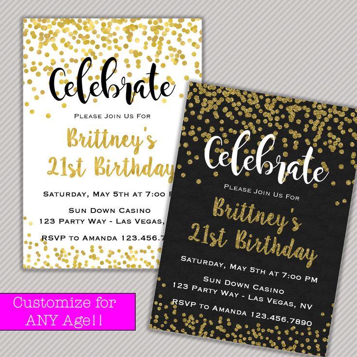 1000+ Ideas About 21st Birthday Invitations On Pinterest